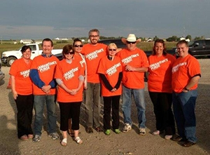 IBAA volunteers in High River after the flood