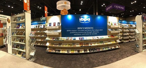 Day 1: IBPA's cooperative booth at BookExpo/BookCon 2016 all set up and ready to go!