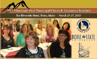 2015 Mountain West Municipal Clerks & Treasurers Institute
