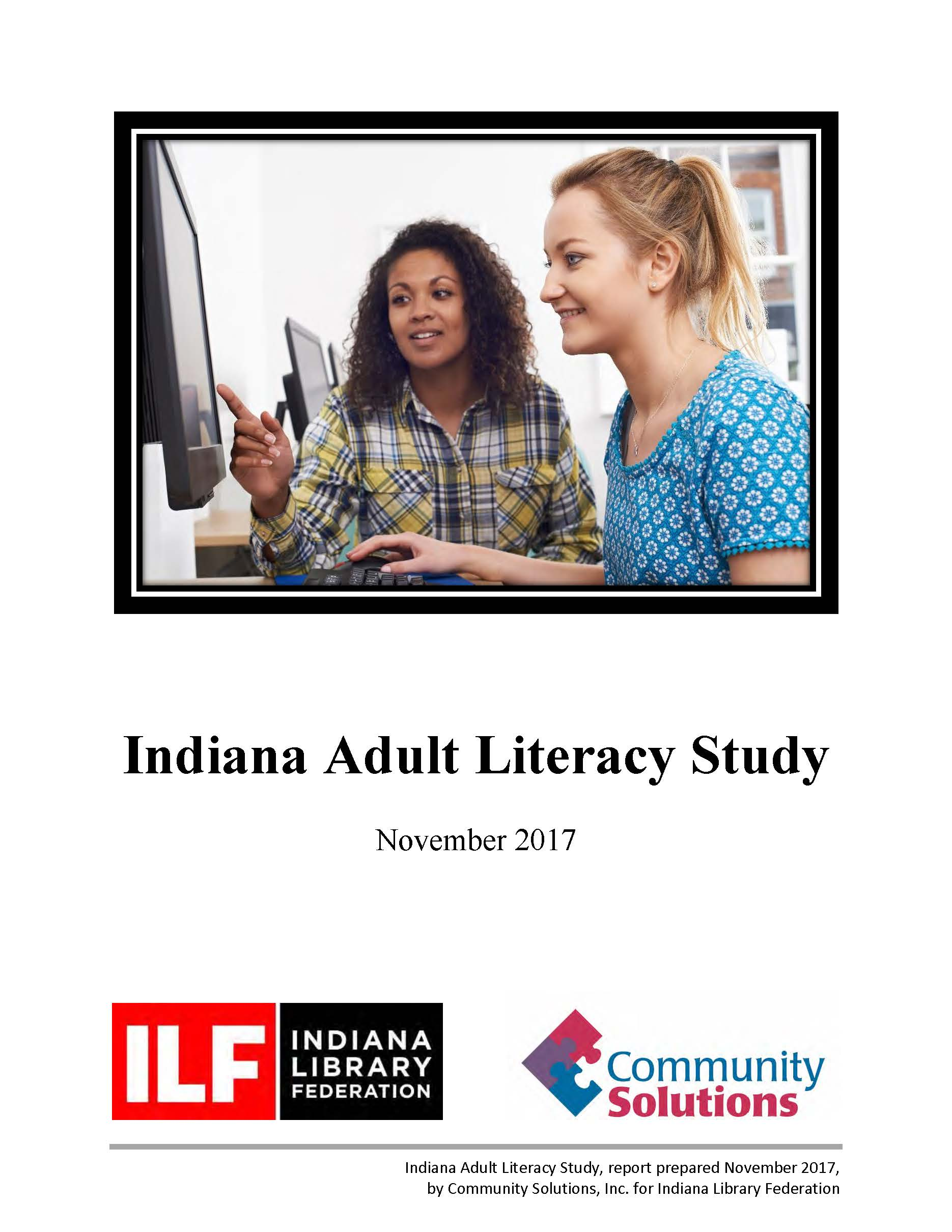 Indiana Adult Literacy Study front page