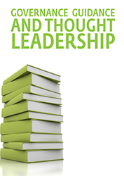 Governance guidance and thought leaderhsip