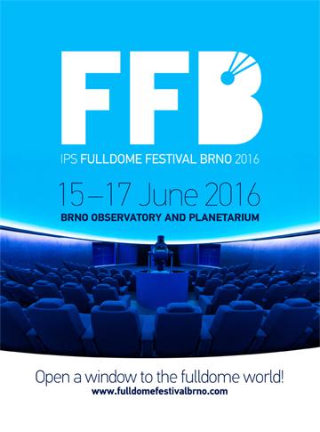 Poster for IPS Fulldome Festival Brno