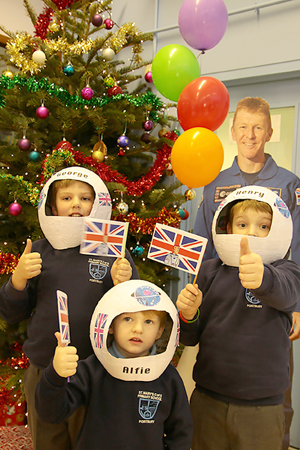 Celebrating the launch of British Astronaut Tim Peake to the ISS