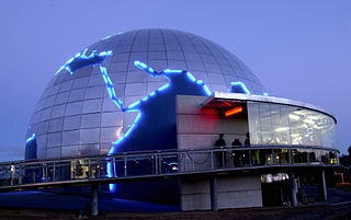 The dome at Cite de l'espace in Toulouse