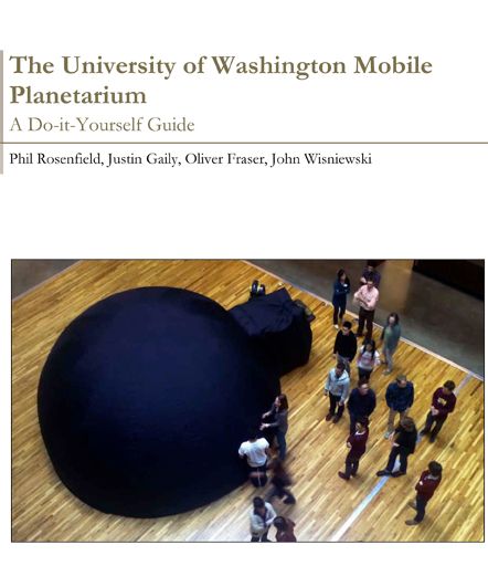 Cover of The University of Washington Mobile Planetarium guide
