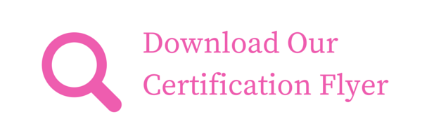 Download Our Certification Flyer