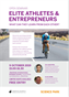Elite athletes and entrepreneurs