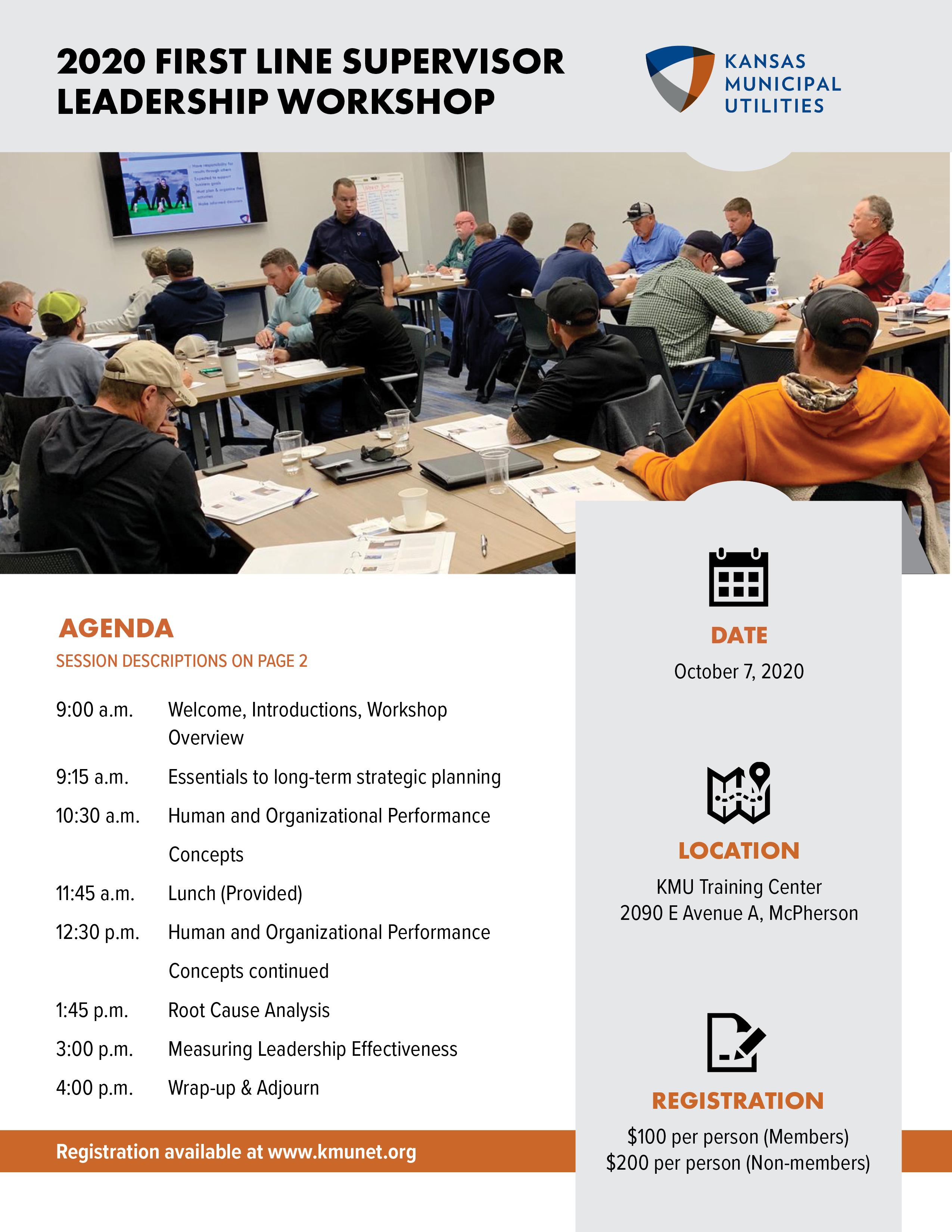 2020 Supervisor Leadership Seminar - Kansas Municipal Utilities