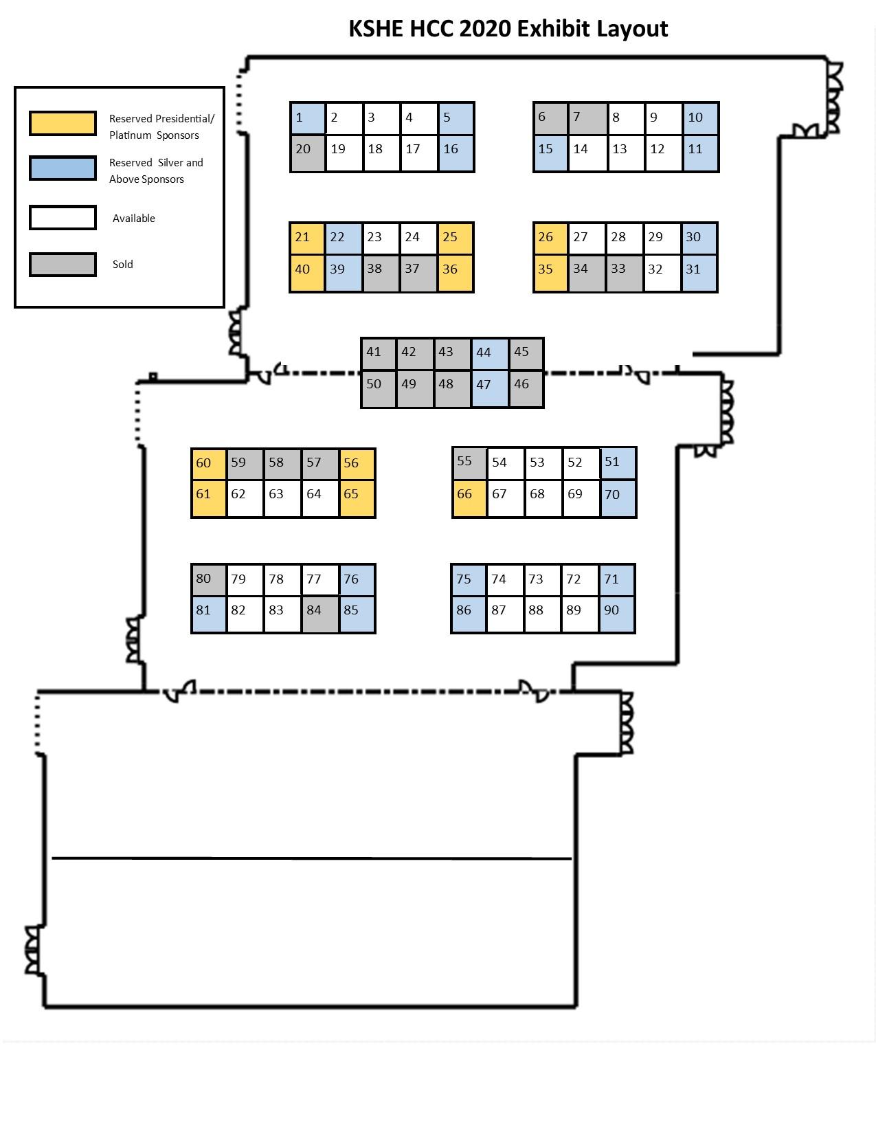 KSHE HCC exhibitor floorplan