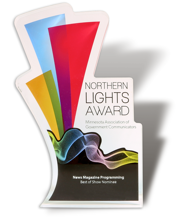A Northern Lights Award trophy