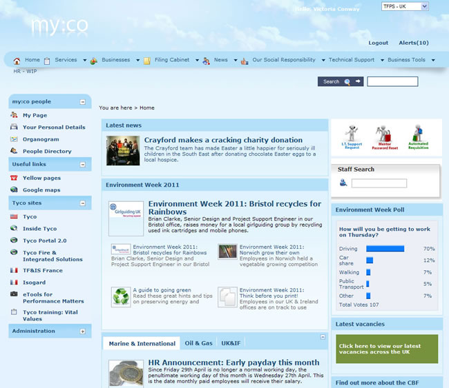 My Beautiful Intranet 2011
