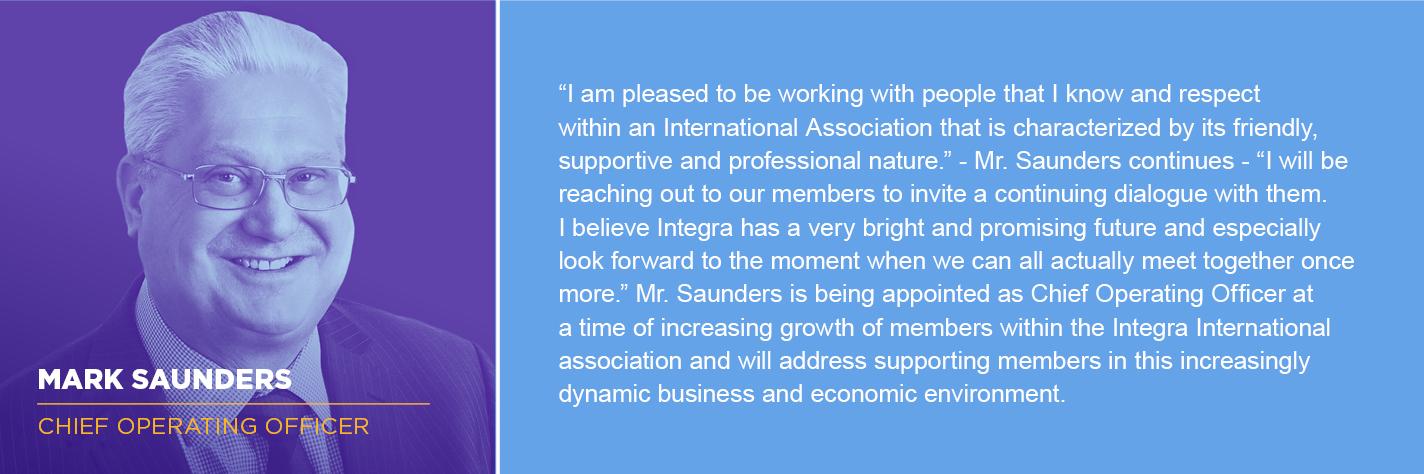Mark Saunders - Integra Chief Operating Officer
