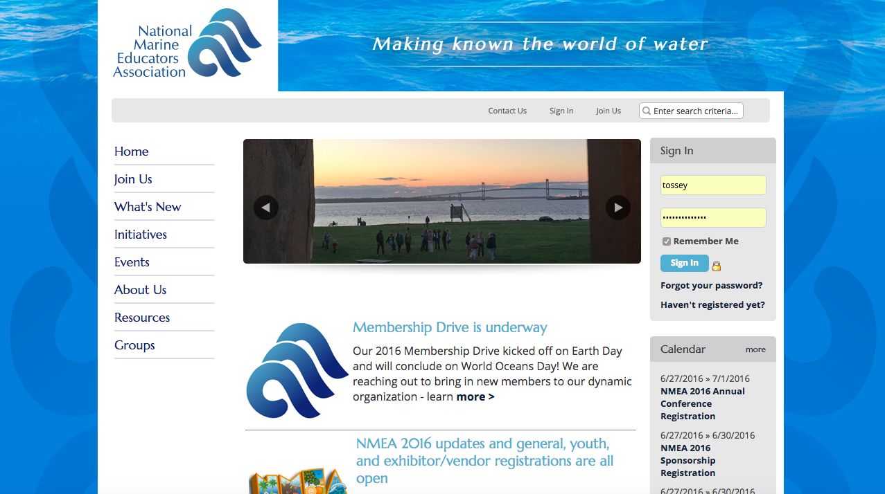 NMEA website homepage