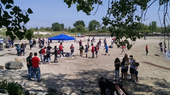 NYSMEA beach clean-up