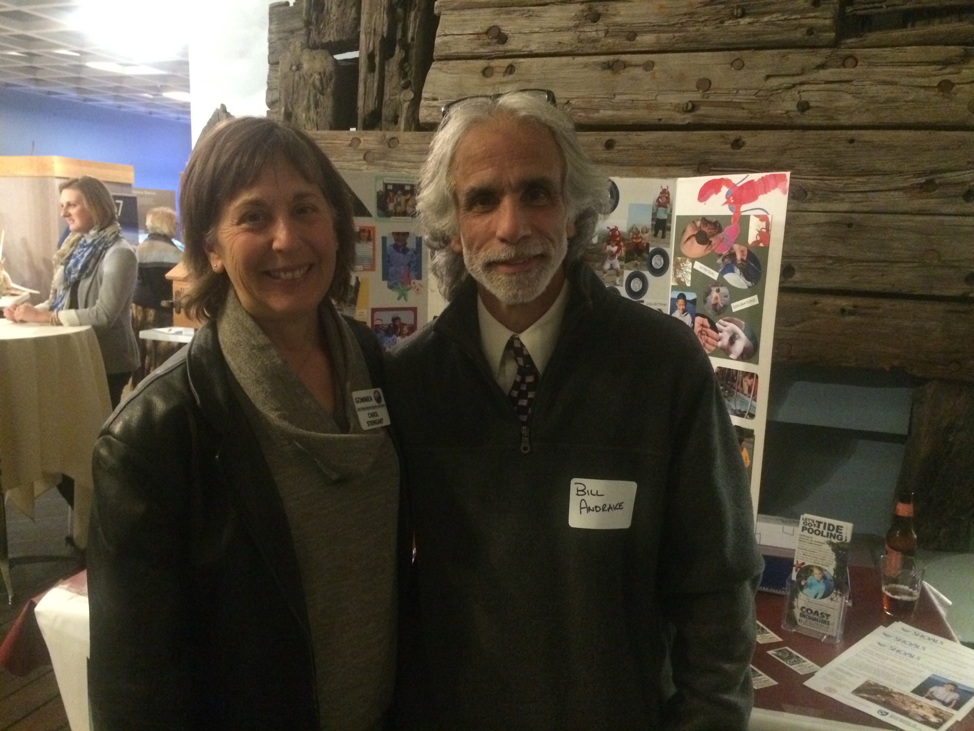 Bill Andrake with Carol Steingart, past-president of GOMMEA
