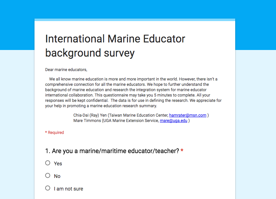 Marine Education survey