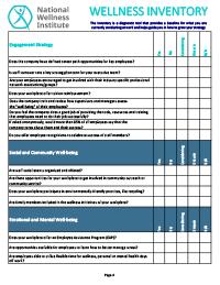 Wellness Diagnostic Inventory