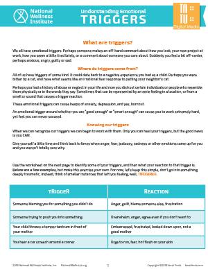 NWI's Understanding Emotional Triggers Tool