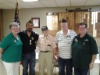 Honoring VJ-Day @ Post 1480 with WWII veteran Frank Gear (center), Commander Vince,  Sr Vice Walter, Ladies Auxiliary Audrey and Judy.