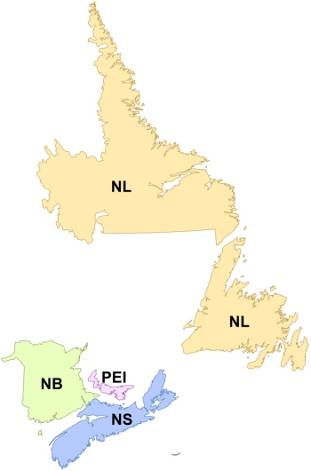 Atlantic Regional Locations Map