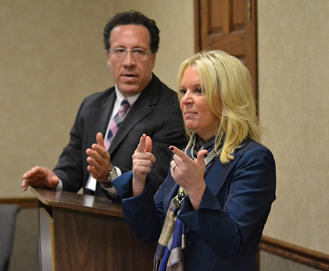 James Clark (Messerli & Kramer) and Senator Karin Housley