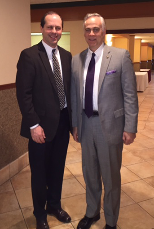 Mike Foley (Chair, Government Affairs Committee) and Representative Tony Albright (Vice Chief, Ways and Means)