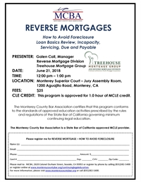 MCBA Reverse Mortgages MCLE