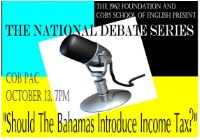 Should The Bahamas Have an Income Tax?
