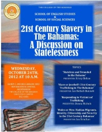 21st Century Slavery in The Bahamas