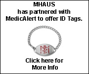 MHAUS Partnered with Medic Alert to provide ID Tags