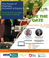 2019 NAAAHR-Milwaukee Diversity, Inclusion and Equity Conference