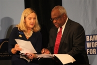 Zoe with Clarence Thomas
