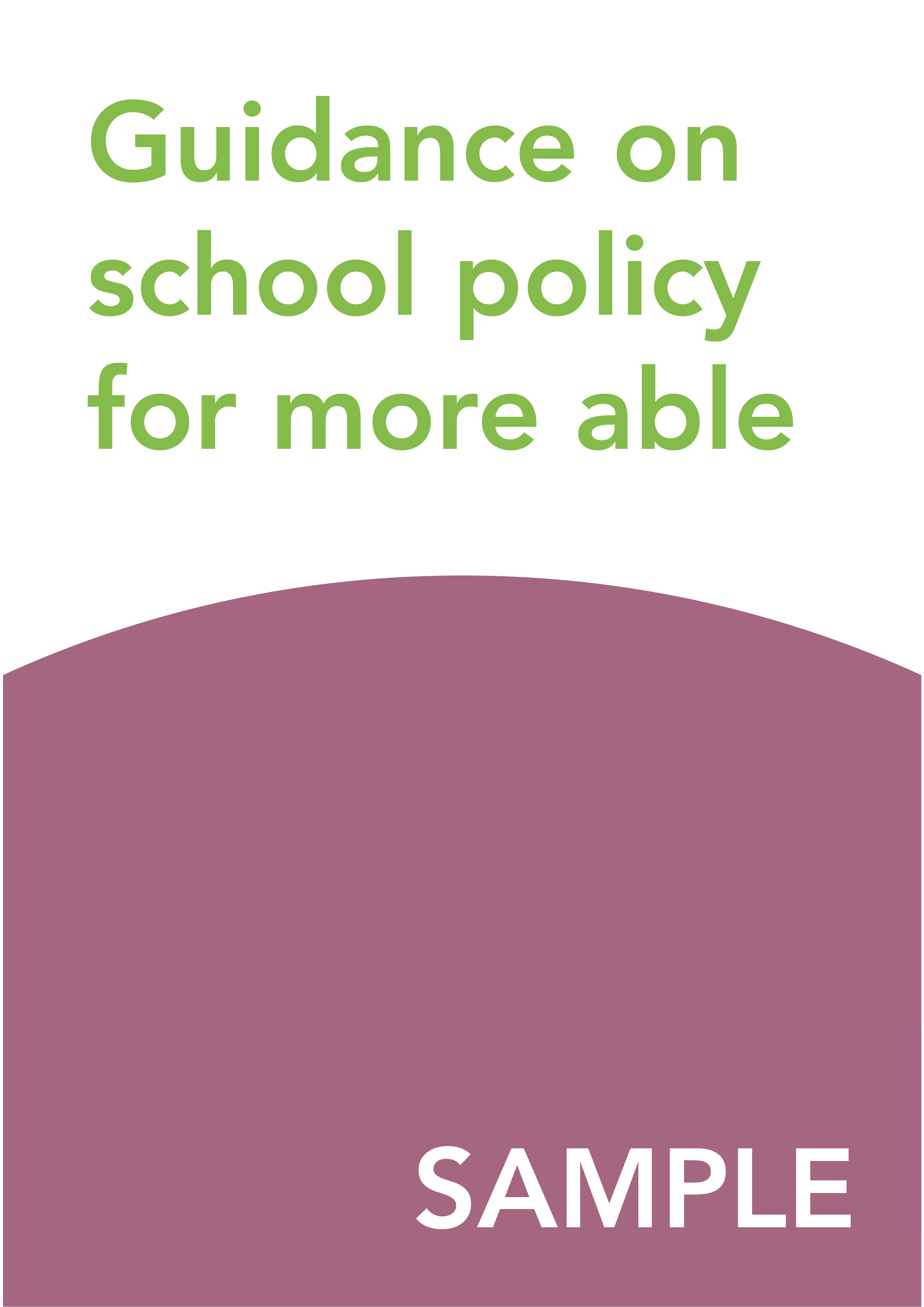 Guidance on school policy