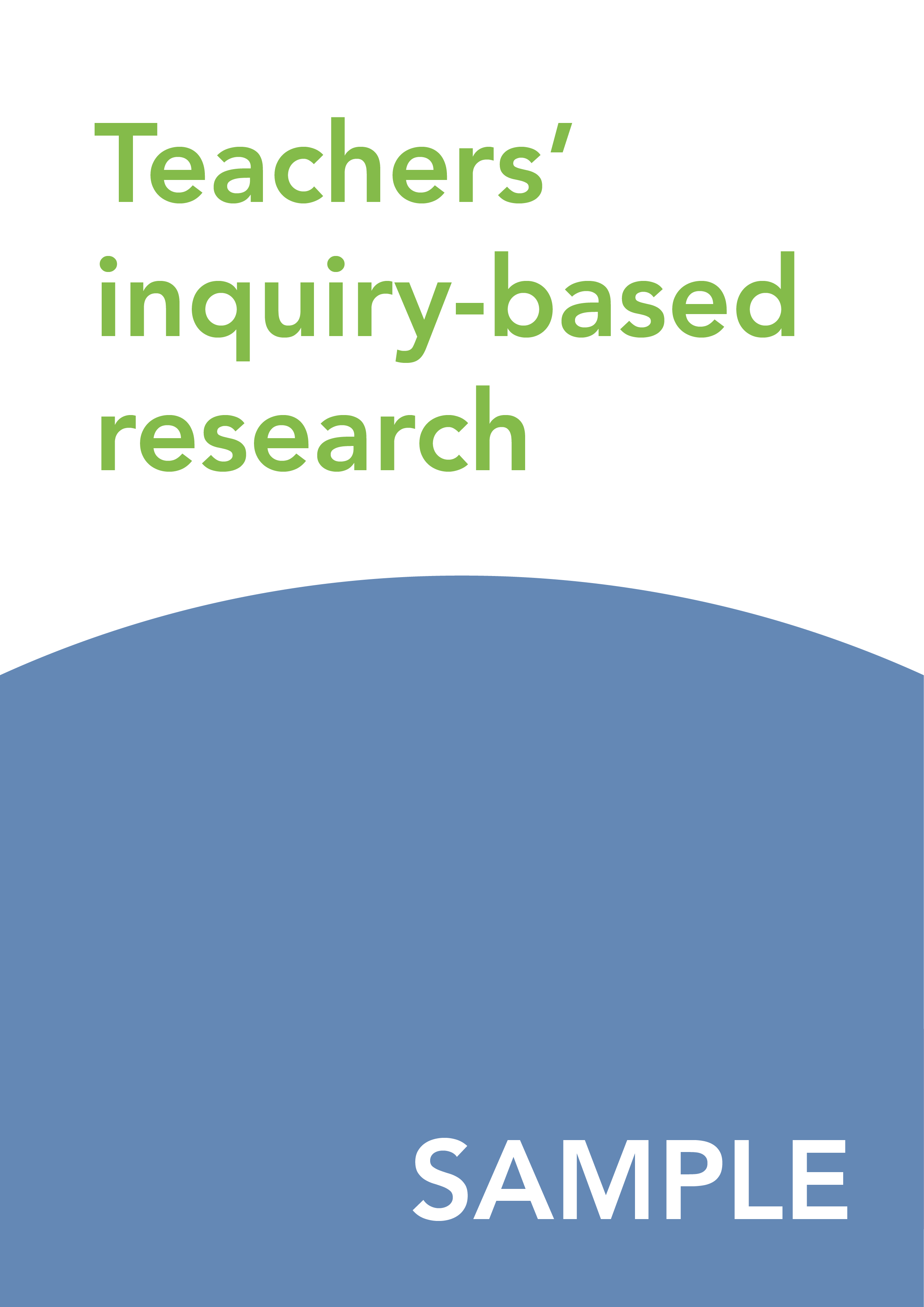 Teachers' inquiry-based research