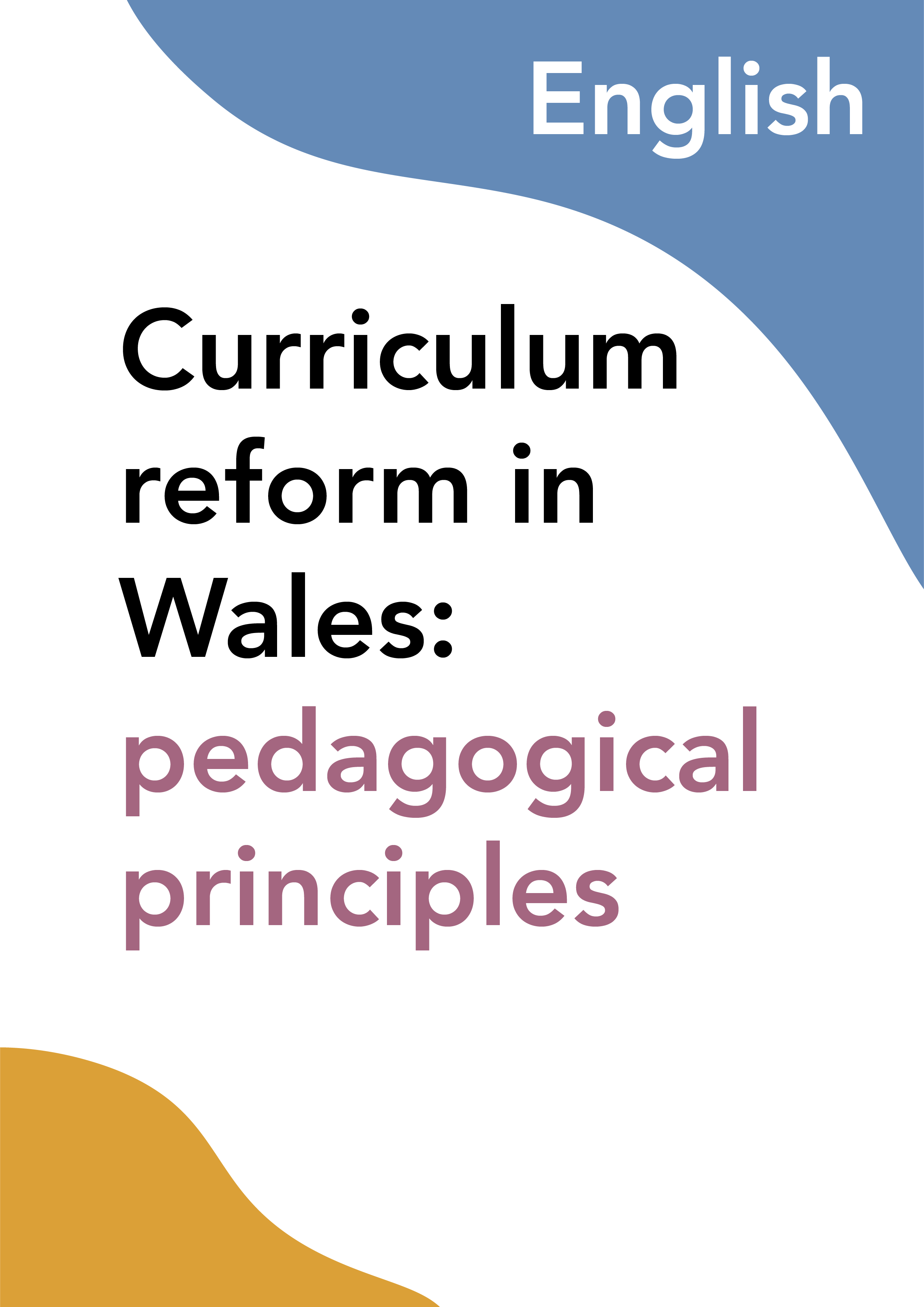 Curriculum reform in Wales: pedagogical principles (English)