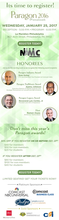 NAMIC-Philadelphia 2017 Paragon Awards