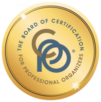 The Board of Certification for Professional Organizers Application & Fee