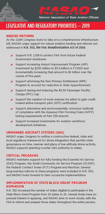 Legislative Agenda - National Association of State Aviation