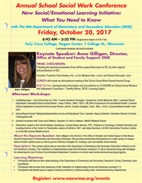2017 Annual School Social Work Conference - 5.5 CEs