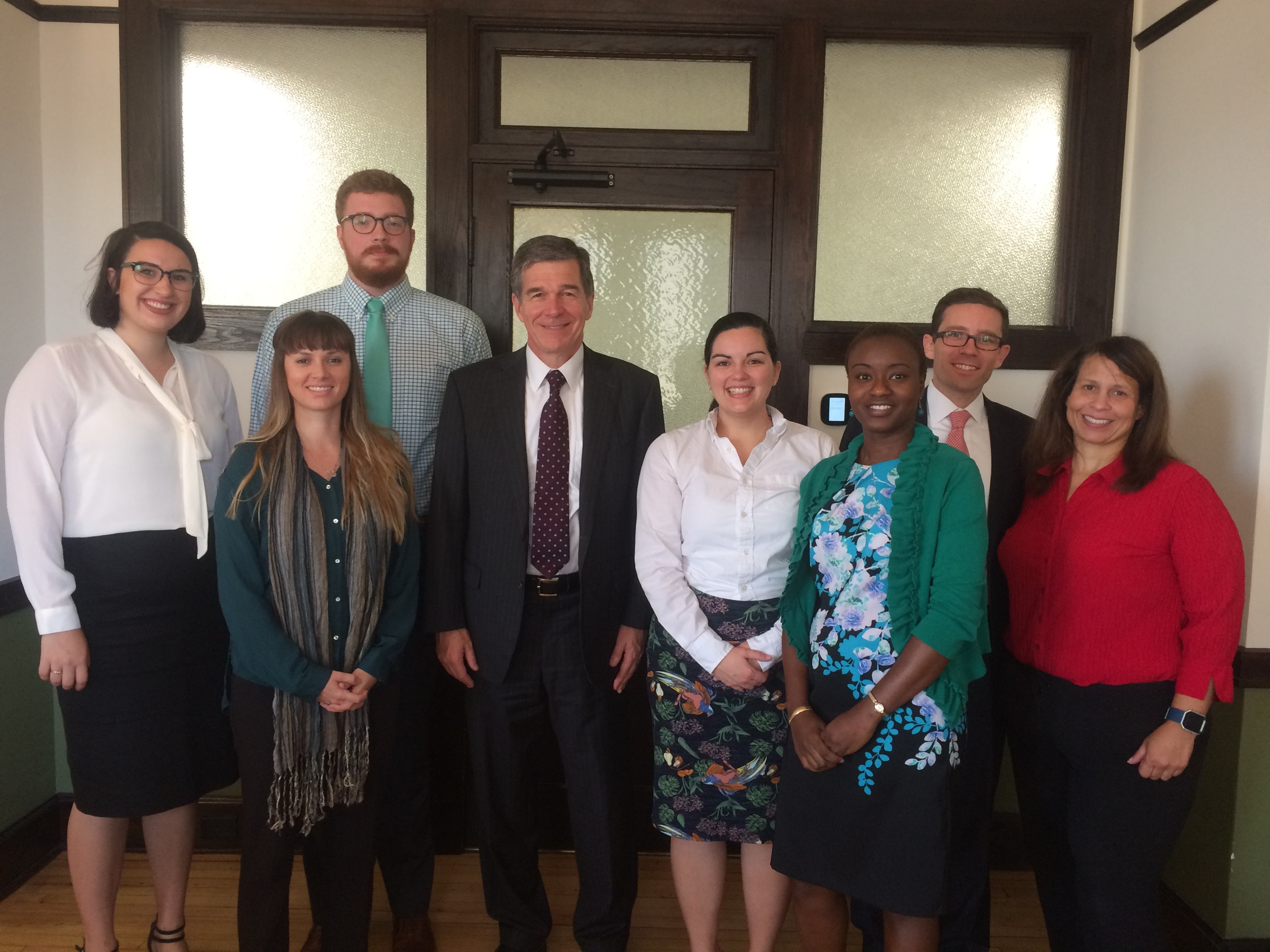 NASW-NC Interns, Staff and PACE Committee with Governor Roy Cooper