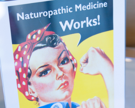 naturopathic medicine works overlaid on image of Rosie the Riveter