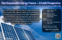 Rocky Mountain ASA presents: Our Sustainable Energy Future – A Faith Perspective