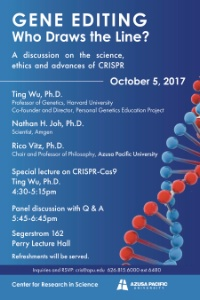 Gene Editing: Who Draws the Line? – A discussion on the science, ethics, and advances of CRISPR