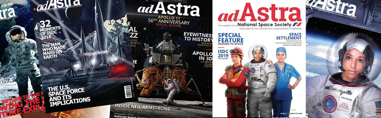 Ad Astra magazines cover art