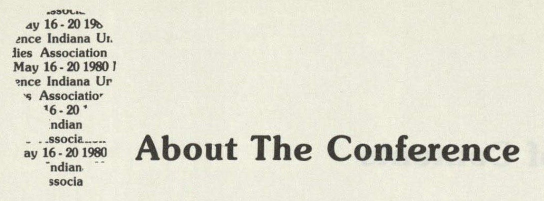 Heading of the 1980 conference program book