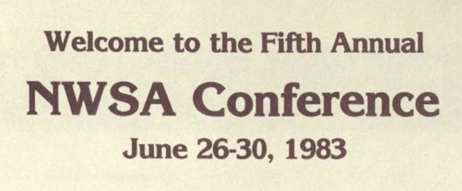 Heading of the 1983 conference program book