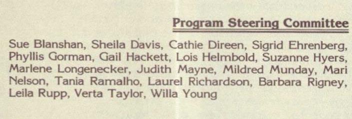 List of 1983 steering committee members