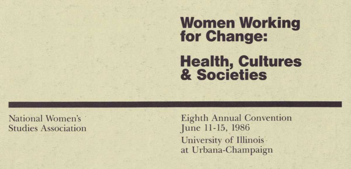 Cover of the 1986 conference program book