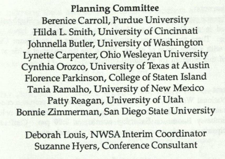 List of 1991 program committee members