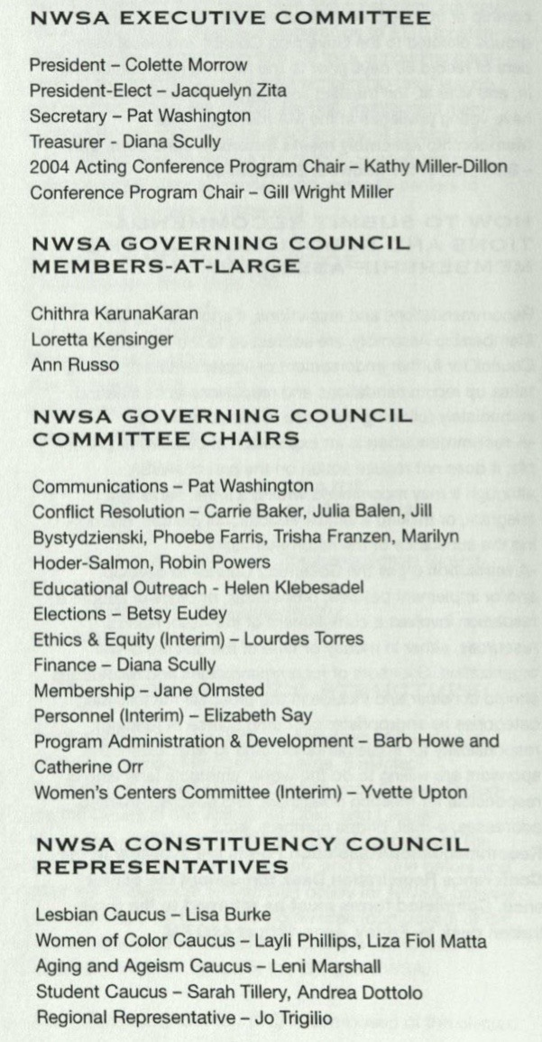 2004 Governance Members